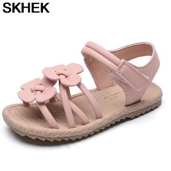 SKHEK dziecięce sandały dziewczęce dziecięce sandały dziecięce buty maluch dziecięce sandały dziewczęce kwiatowe podeszwy dziecięce dziecięce sandały z motywem księżniczki tanie i dobre opinie RUBBER 25-36m 13-24m 13 5cm 14cm 14 5cm 15cm 16cm 17cm 17 5cm 18cm CN (pochodzenie) Lato GLADIATORKI Dziewczyny oddychająca
