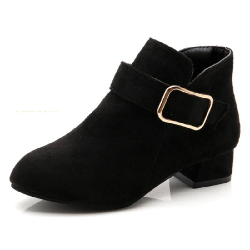 Little Girls Boots Solid High Heels