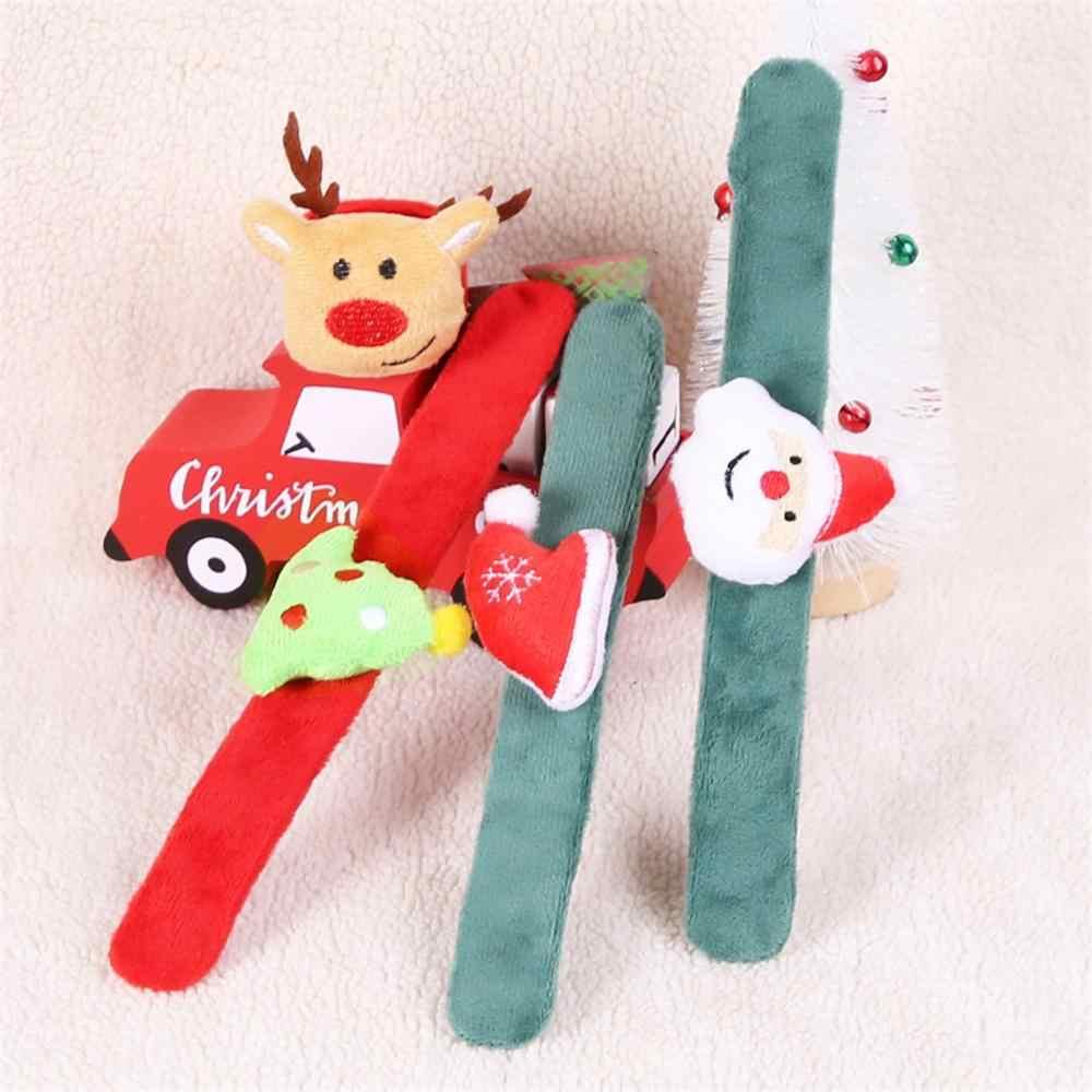 Decoração de natal pulseiras bonito pat círculo wristlet natal pulseiras crianças presente patted braçadeira pulseira carnaval