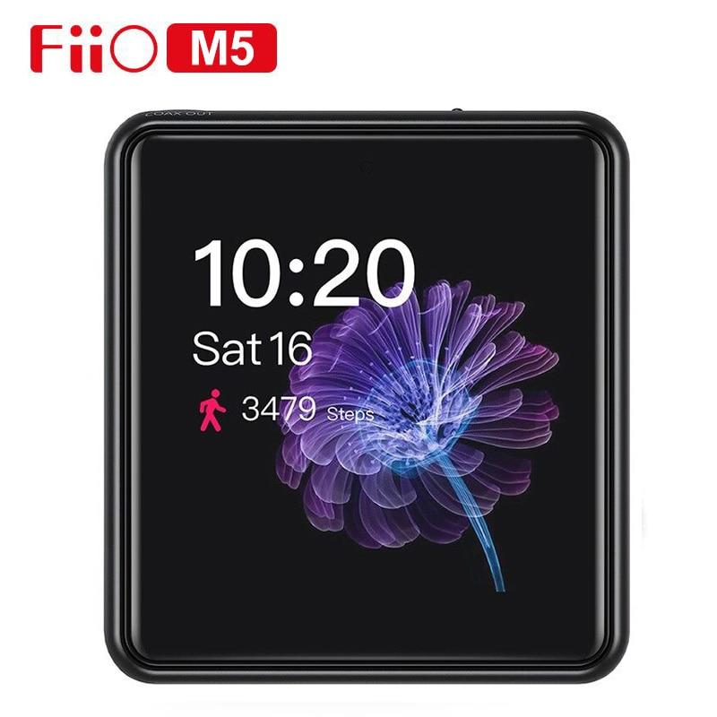 Fiio m5 hi res bluetooth alta fidelidade música portátil mp3 player usb dac baseado android com aptx hd, fiio opcional sk m5a watchtrap para m5