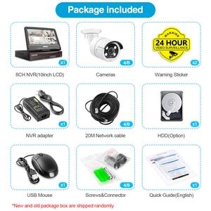 "Image 5 - تيشيج 8CH 1080P 12 ""شاشة الكريستال السائل POE طقم NVR HD 2MP IP كاميرا اتجاهين الصوت في الهواء الطلق المراقبة POE CCTV نظام الكاميرا الأمنية"