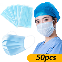 50 Pcs Anti-dust Safe Breathable Mouth Mask Dental Disposable Ear loop Face Mask Hypoallergenic Masks Anti Virus Mask