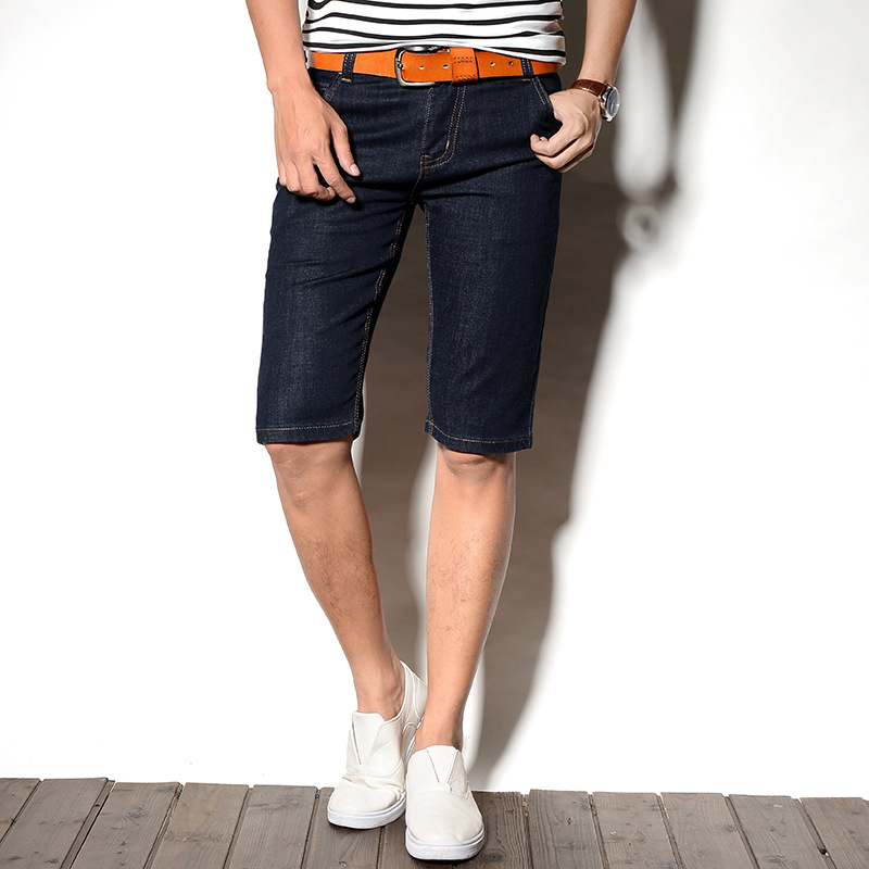 2019 Summer Wear New Style Business Casual Jeans Washing Faded Short-length Pants Fashion Man Denim Shorts