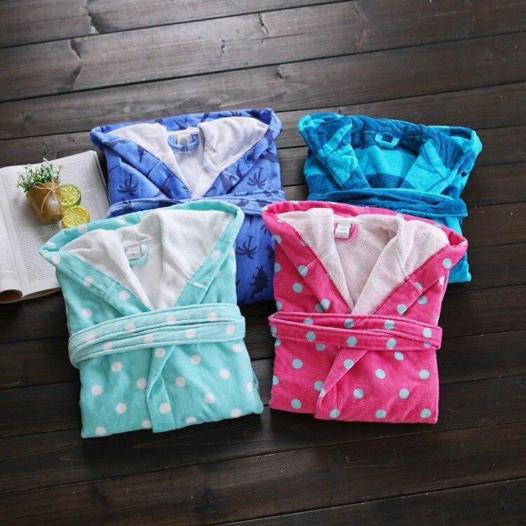 Pure Cotton CHILDREN'S Bathrobes Cotton Toweling Men And Women Baby Hooded Swimming Bath Bathrobe Bath Towel Thick Pajamas