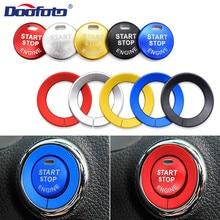 Doofoto Автомобильная наклейка для внутреннего интерьера Start Stop стильная кнопка Зажигания для автомобиля покрытие кольцо для Nissan Qashqai X-trail T32 Rogue МУРАНО Teana аксессуары