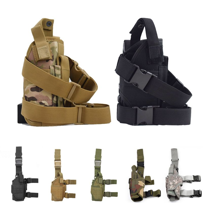 Tactical Thigh Bag Adjustable Strap Holster Combat Airsoft Military Accessories Universal Glock Gun Hunting Leg Pack Pistol Case