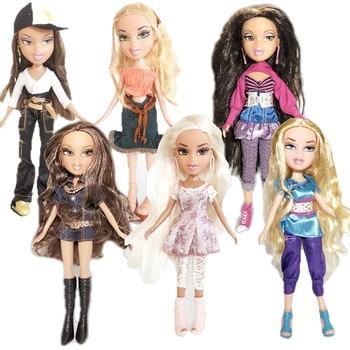 new 23cm dolls Original mgadoll Rare white hair Big lips Leisure gir Fashion Bratz Doll Action Figure doll Best Gift 1