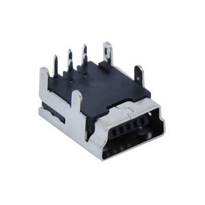 "Image 4 - 10Pcs מיני USB סוג B 5 פינים שקע נקבה אנכי/אופקי מח""ש שקע מחבר עבור זנב טעינה"