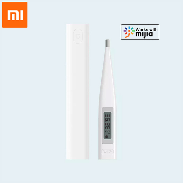 Original Xiaomi Mijia Electronic Thermometer Bluetooth Smart Digital Thermometer LCD Display Works With Mijia APP
