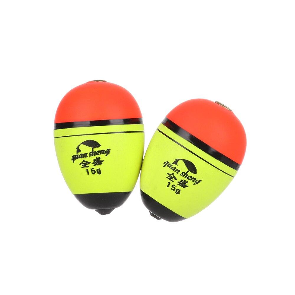2pcs//lot Hot Buoyancy Plastic Long//oval Eva Foam Fishing Float Bobber Ball Boia