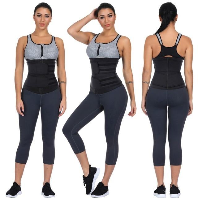 Women Slimming Sheath Waist Trainer Tummy Reducing Shapewear Belly Body Shapers Sweat Strips Sauna Corset Workout Trimmer Belts 1