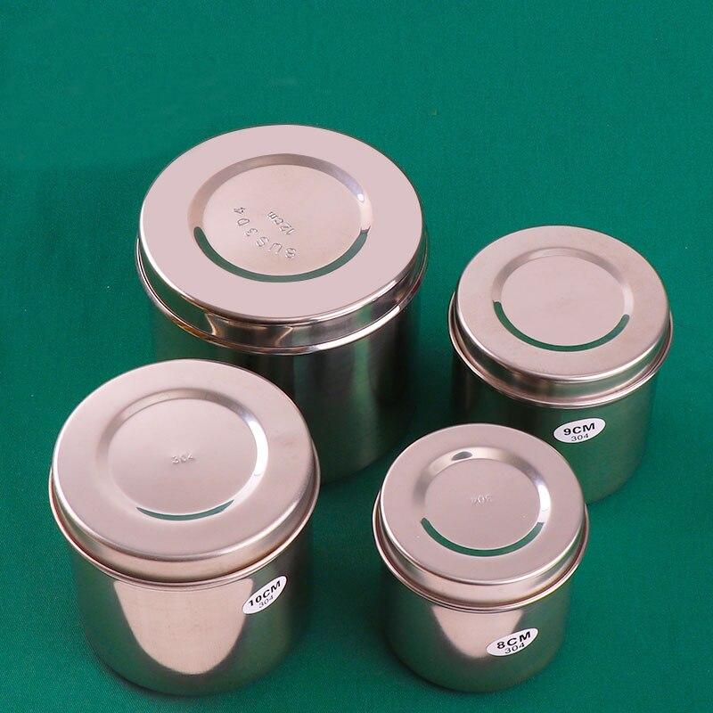304 aco inoxidavel cilindro de alcool desinfeccao algodao bola recipiente gaze pomada copo engrossado anti iodo