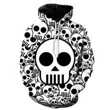 Skull Hoodies Streetwear Sweatshirt Women Plus Size Cartoon Anime Skull 3D Printed Harajuku Casual Girls Sportswear Hoodie