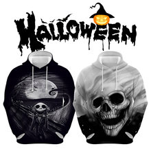 3d printed man hoodies horror skull halloween mens long sleeve