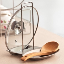Cover Pot-Rack Rest-Stand Spoon-Holder Kitchen-Accessories Stainless-Steel Home Lid
