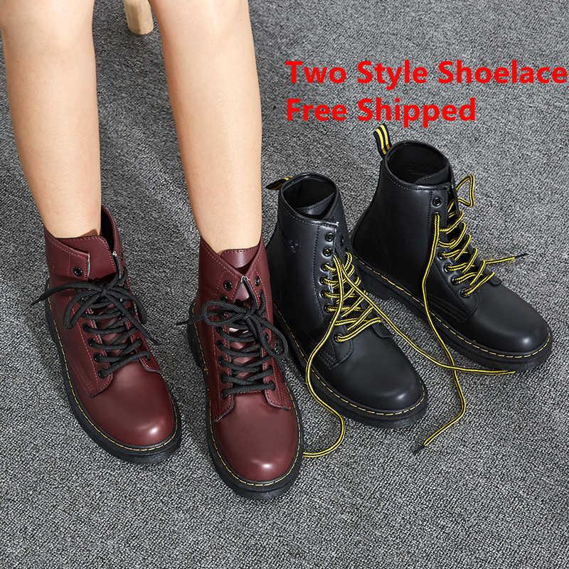 Yarım çizmeler kadın motosiklet botları kadın kışlık botlar PU deri kısa çizmeler Martin çizmeler kız patik sıcak kürk ayakkabı