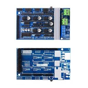 Image 4 - Reprap רמפות 1.6 ערכת עם מגה 2560 r3 + Heatbed MK2B + 12864 LCD בקר + DRV8825 + מתג מכאני + כבלי עבור 3D מדפסת