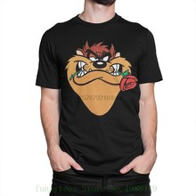 Taz With Roset Shirt Tasmanian Devil Looney Tunes Shirt All Sizes Men T-shirt Cool Newest(China)