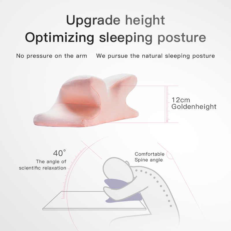 CHECA Barang Busa Memori Tidur Siang Bantal untuk Meja Tidur Siang Bantal Meja Nap Bantal Pendukung Kursi Bantal Sandaran Kepala Bantal Leher Perjalanan