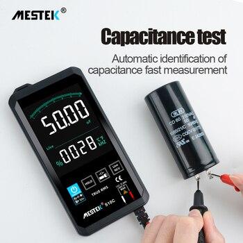 Цифровой мультиметр 6000 отсчетов умный мультиметр AC DC транзисторный конденсатор NCV тестеры измеритель истинный RMS сенсорный экран мультимет...