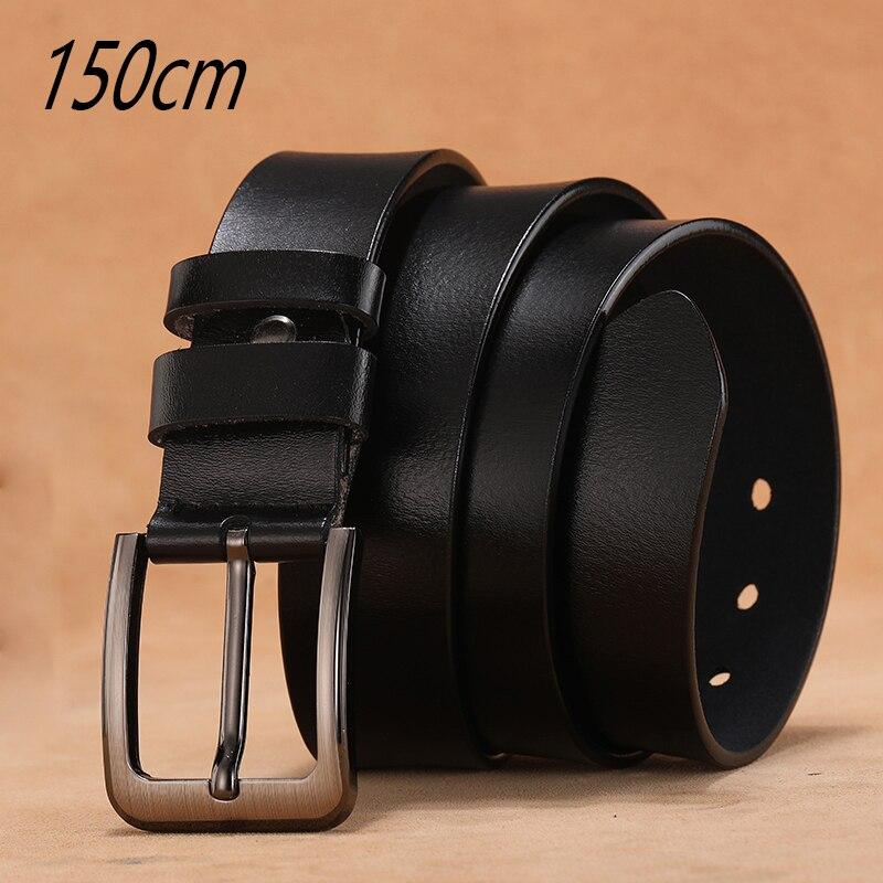 140 170cm Large Size Genuine Leather Men Belt High Quality Cowhide Pin Buckle Male Belts Lengthen Designer Belt For Men's Gifts