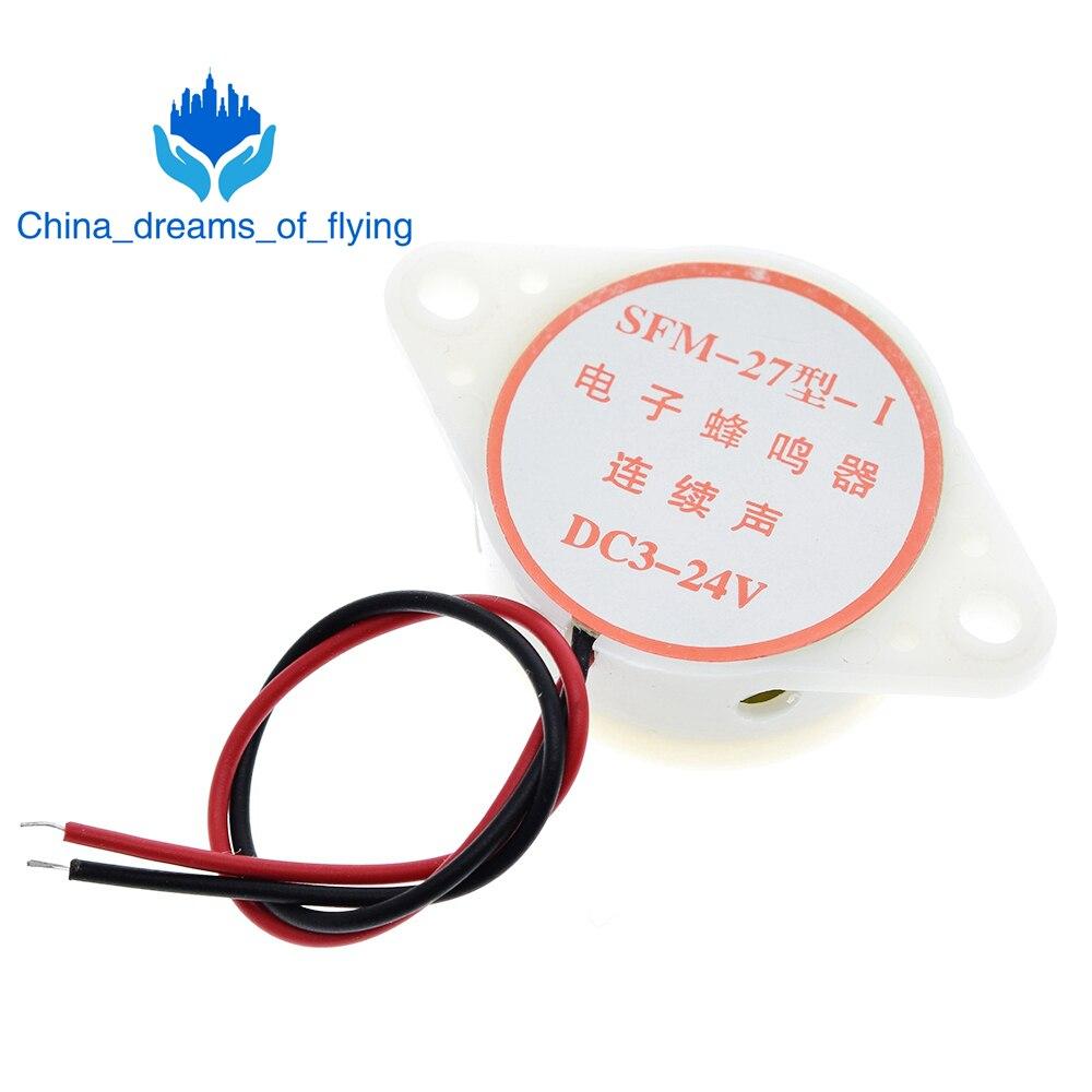 1pcs/Lot 95DB Alarm High-decibel 3-24V 12V Electronic Buzzer Beep Alarm Continuous Beep for Arduino SFM-27