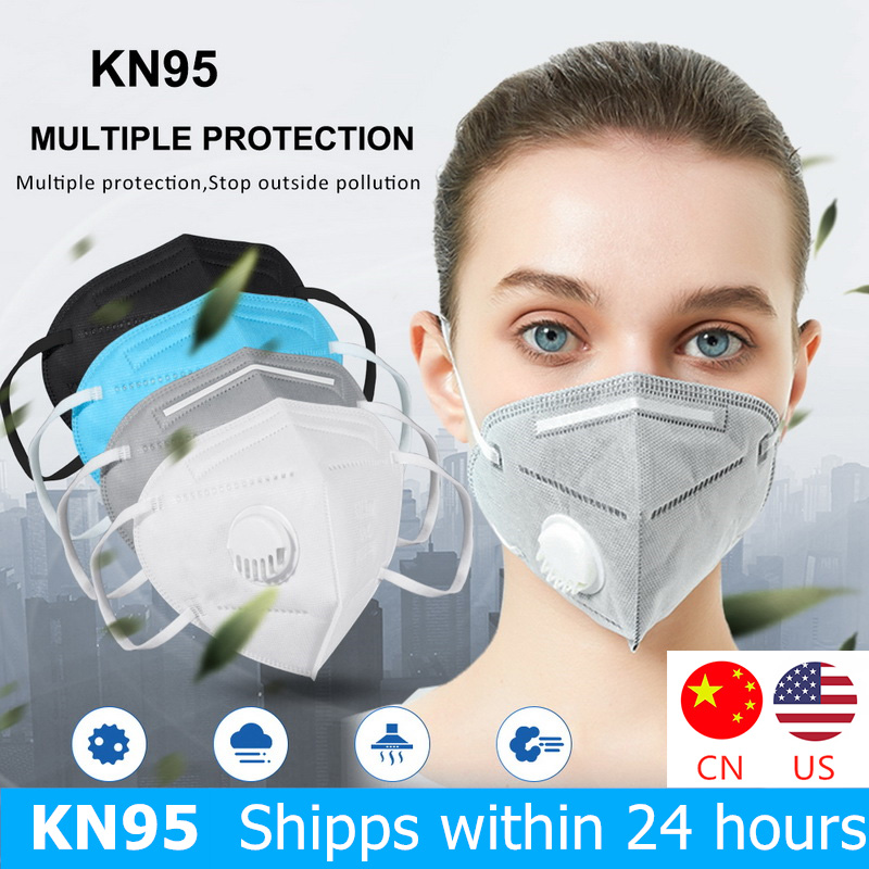 KN95 Disposable Face Masks 95% Filtration Non-woven Fabric Protective Mask Anti Dust PM2.5 Particles Pollution Filter Mouth Mask