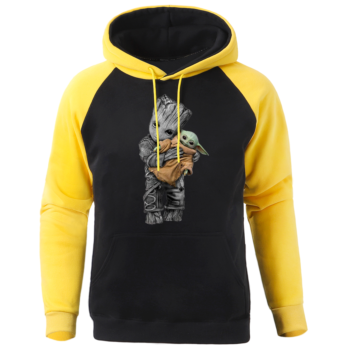 2020 New Male Hoodies Baby Yoda And Groot Men's Sports Sweatshirts Spring Cartoon Graphics Clothes Men Funny Streetwear Pullover