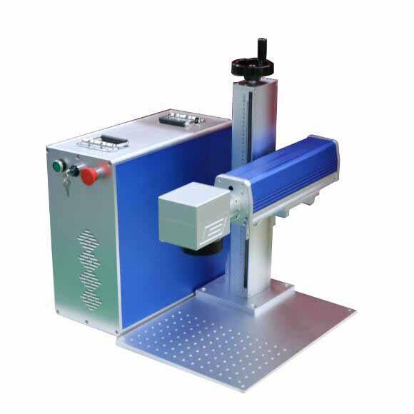 Niska cena marker laserowy 10W 20W 30W cnc 3d przenośny mini kolor maszyna do znakowania laserem światłowodowym do metalu