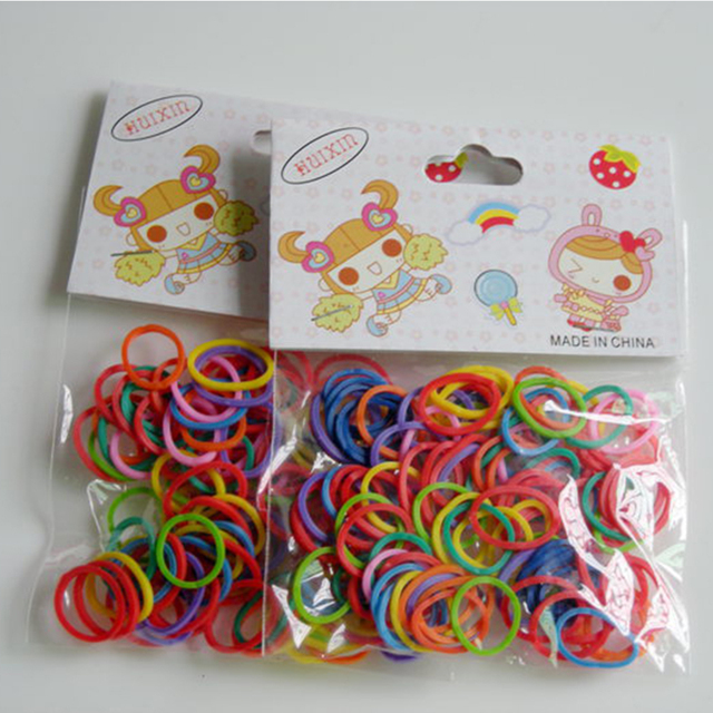 Pet Dog Hairband Newest Colorful Pet Beauty Grooming Rubber Band Pet Hair Product Pet Hairpin Hair Accessories 100Pcs/Bag #