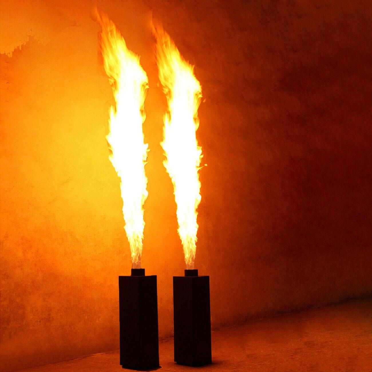 Honhill 2x200w chama pulverização projetor palco projetor efeito de fogo dmx512 aerossol chama dj palco projetor máquina festa