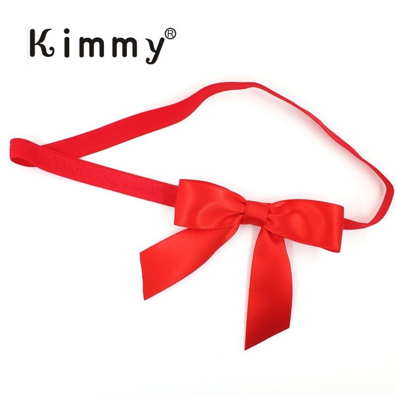 Promote╡500pcs Red Satin bow with 17
