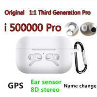 Oryginalny i500000 Pro 1: 1 powietrza 3 GPS zmień nazwę bezprzewodowy zestaw słuchawkowy Bluetooth PK i9000 Pro i90000Max i9000 i5000 i200 i500 i200000Pro