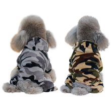 Pet Dog Autumn Winter Warm Cotton Clothing Casual Windbreaker Jacket Camouflage Pattern Military Training Loaded Cool