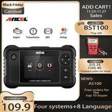 Ancel Escáner para auto, herramienta de diagnóstico profesional, ABS SRS, airbag, transmisión, motor, FX2000 OBD2