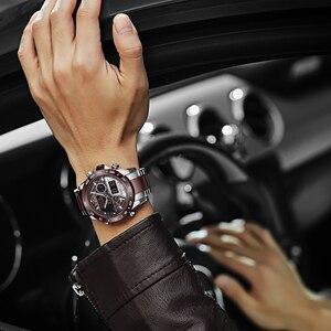 Image 5 - NAVIFORCE นาฬิกาผู้ชายแบรนด์หรูกีฬา Quartz LED Dual Display ชายนาฬิกาทหารกันน้ำนาฬิกาข้อมือเหล็กเต็มรูปแบบใหม่