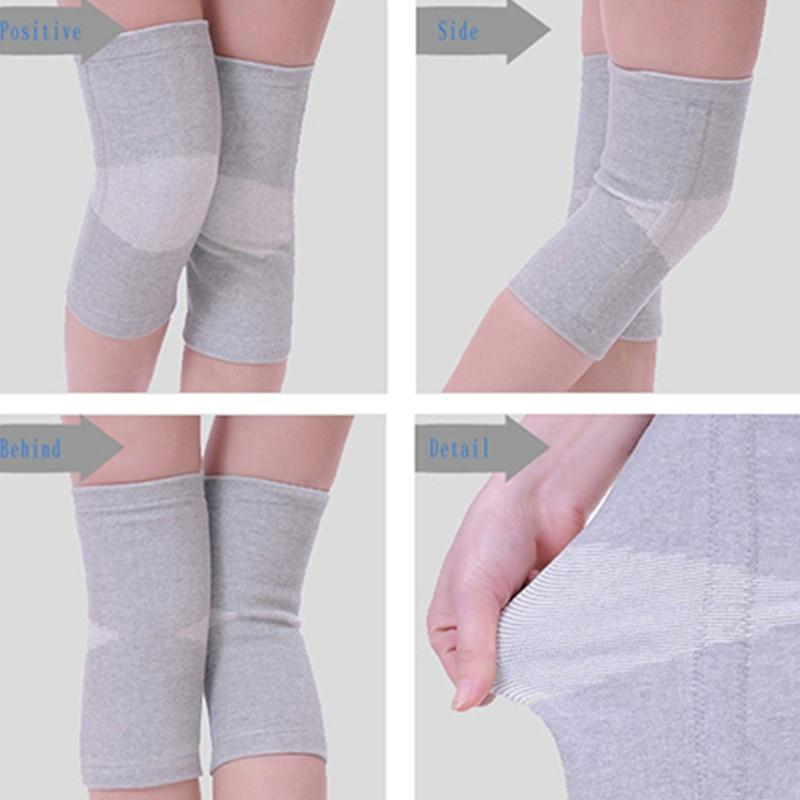Купить с кэшбэком BYEPAIN 1Pair Warm Elastic Breathable Knee Support Brace Bamboo Fiber Health Care Knee Brace Spring Stay Knee Pads