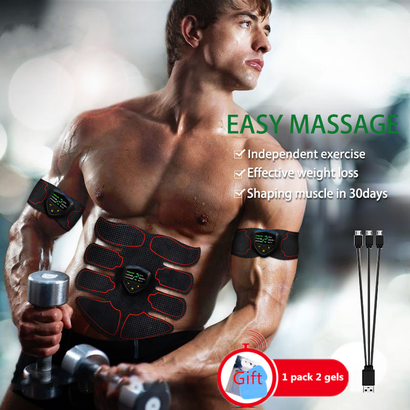 EMS Smart Muscle Stimulator Abs Trainer Exercise Fitness Equipment Relaxation Muscles Abdominal Stimulator Rechargeable Slimming