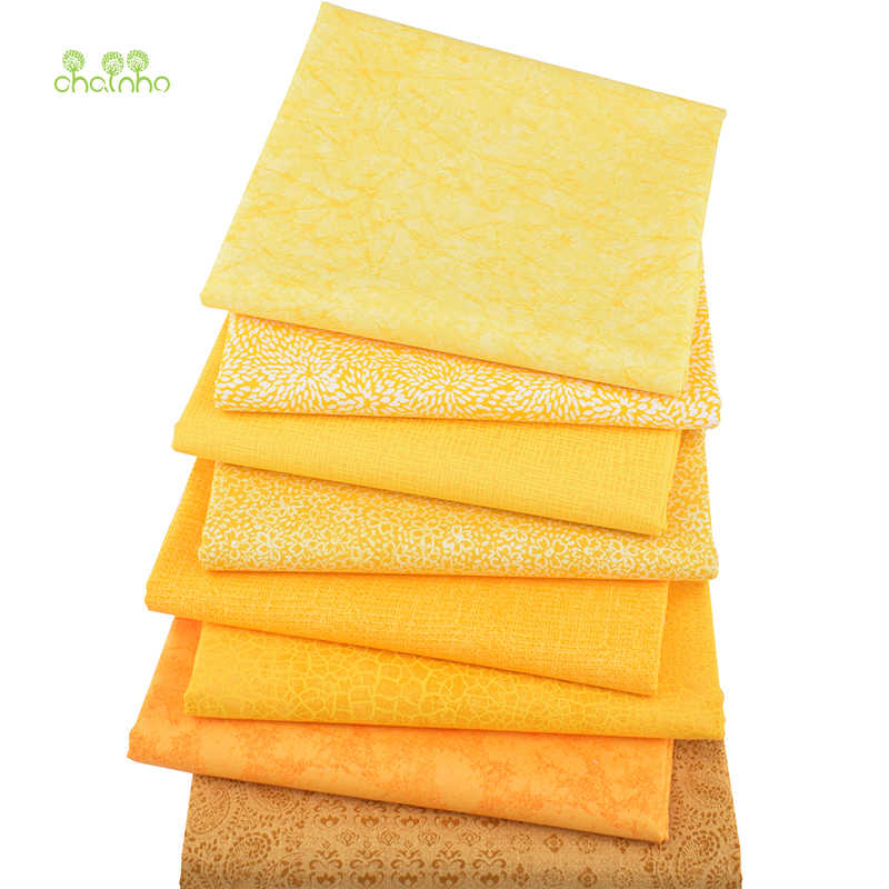 8pcs/lot,Plain Cotton Fabric,Patchwork Cloth,Yellow Series Of Handmade DIY Quilting&Sewing Crafts,Cushion,Bag Textile Material