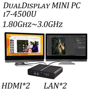 4th Gen. i7 4500U CPU Fanless Mini PC i7 Hanswell HTPC Blu-ray Micro PC Graphics HD4400 Computer Windows 7 Freeshipping