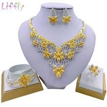 Liffly в нигерийском стиле элегантный женский цветок ожерелье