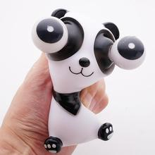 Creative Funny Cartoon Panda Small Squeeze Anti stress Toy Fashion Out Eyes Doll Stress Relief Venting Joking Decompression
