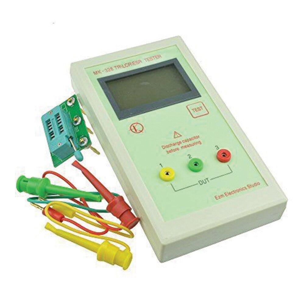 MK-328 TR LCR ESR Tester Transistor inductancia capacitancia resistencia medidor ESR sin batería blanco Medidor de potencia de fibra óptica 2 en 1, con fuente láser de 10km, localizador Visual de fallos VD708-10mw