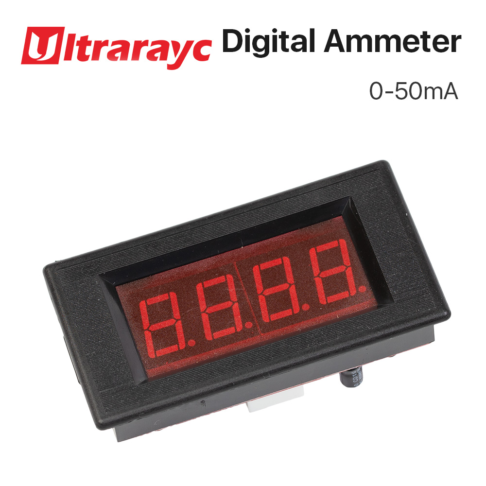 50mA LED Digital Ammeter DC 0-50mA Analog Amp Panel Meter Current For CO2 Laser Engraving Cutting Machine