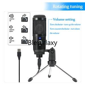Image 3 - Micrófono de condensador USB para Mac, portátil y ordenador para grabación en Streaming, transmisión de voz, para Youtube, Skype