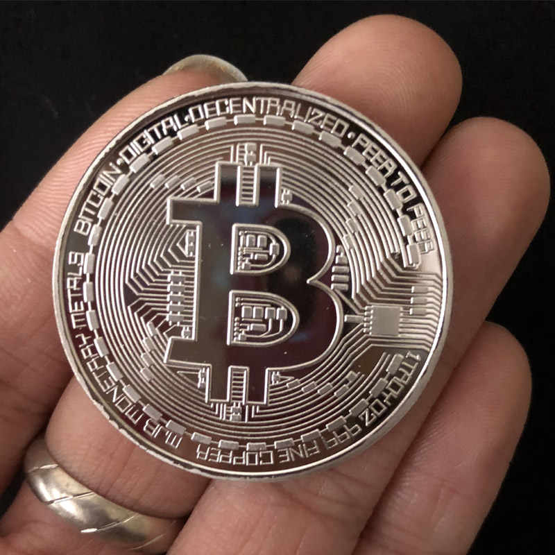 1Pcs Creative Souvenir Vergulde Bitcoin Coin Collectible Grote Gift Beetje Munt Art Collection Fysieke Gold Herdenkingsmunt