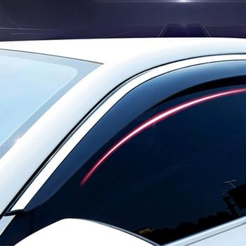 FOR SKODA NEW OCTAVIA MK3 2014-2018 Car Deflector Window Door Visor,Injection+Steel Trim,Weather Rain Wind Guard Car Accessories