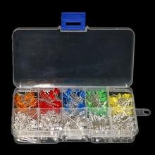 500 unids/caja 3MM Kit de diodo LED Color mezclado rojo verde amarillo azul blanco naranja