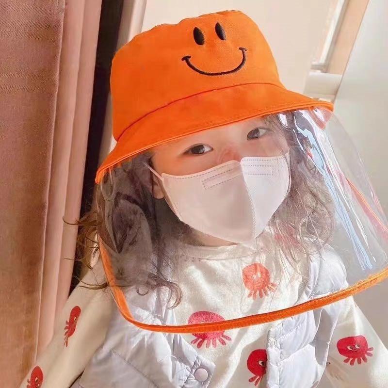 Epidemic droplet hat orange child fisherman hat protective cap|Shoe Covers| |  - title=