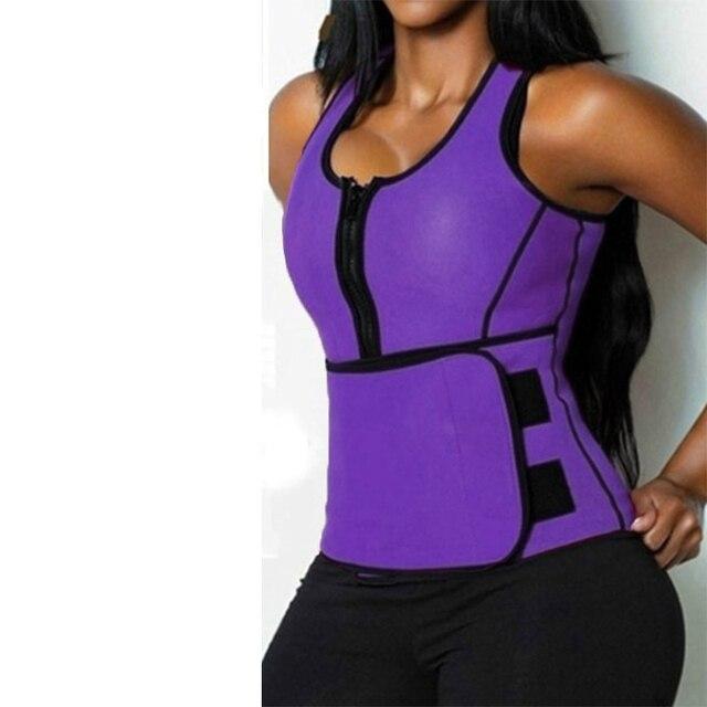 Women Body Shaper Vest Tank Plus Size Belly Belt Sweat Trainer Shaper Corset Waist Workout Adjustable Slim Female Shapewear 4